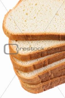 Sliced white bread .