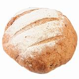 circle Loafs of black bread .