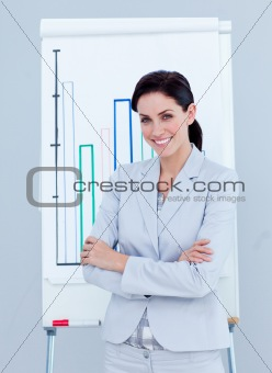 Ambitious businesswoman giving a presentation