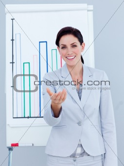 Charismatic businesswoman giving a presentation