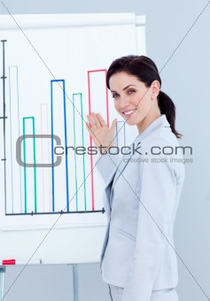 Attractive businesswoman giving a presentation