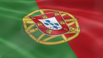 Portuguese flag in the wind