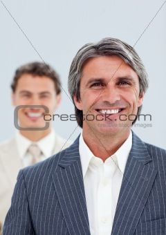 Portrait of two confident businessmen
