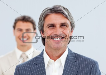 Portrait of two smiling businessmen