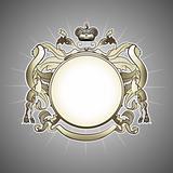 luxury  heraldic frame