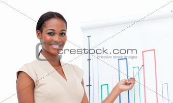Charming female executive doing a presentation