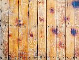 Wall covered with old scratched boards