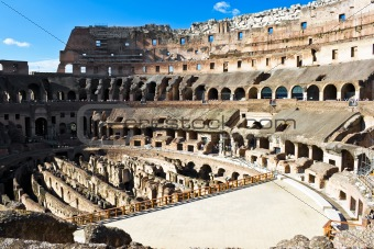 Inside Roman Colosseum 