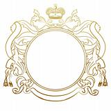 luxury  heraldic frame