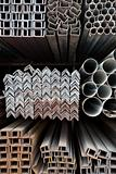 Metal pipes and angle iron  stack