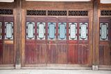 Closed wooden door