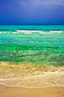 Beach befor storm