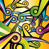 rainbow shape colorful wallpaper