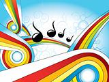 retro colorful music wallpaper