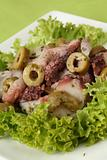 Octopus salad with olives