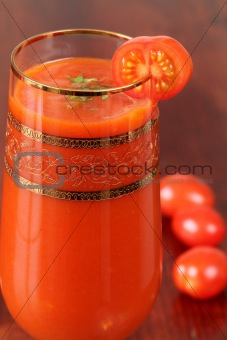Tomato juice or Bloody Mary