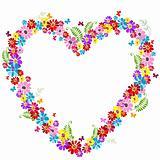 Decorative  valentine floral frame