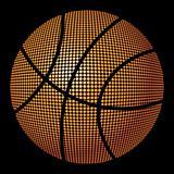Fiery basketball ball
