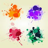 Colored paint splats background