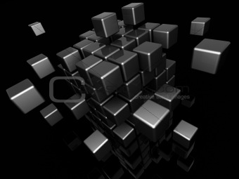 abstract cube structure