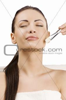 beauty adv portrait with brush