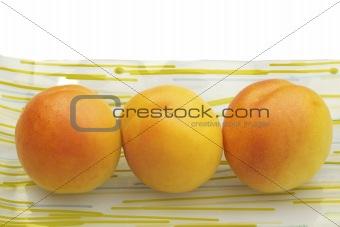 Three Fresh Ripe Apricots, Healthy Eating, Organic