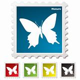 Nature butterfly stamp
