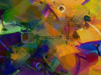 Painted abstract
