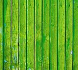 Green wooden old decayed wall