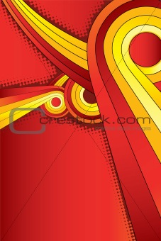 Abstract round shape background vector