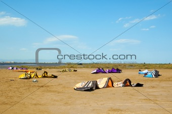 kitesurfing in Delta de l'Ebre, Spain