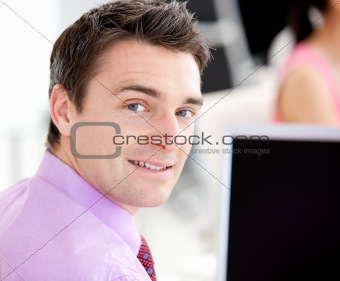 Portrait of an assertive businessman looking at the camera