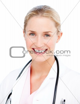 Portrait of a radiant female doctor
