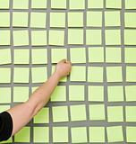 Hand and Adhesive Notes