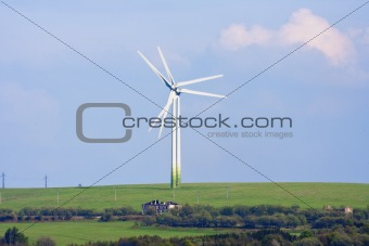 alternative energy - wind turbines farm in czech republic