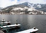Alpine lake and mountains