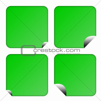 Green eco labels or buttons