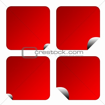 Blank red labels or buttons