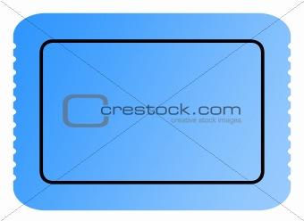 Blank blue ticket