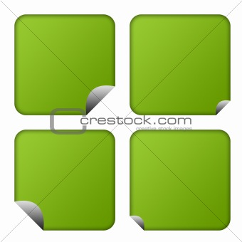 Green eco buttons or labels