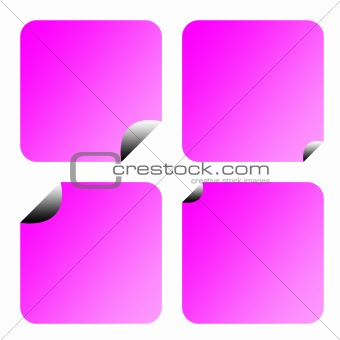 Blank lilac stickers or labels