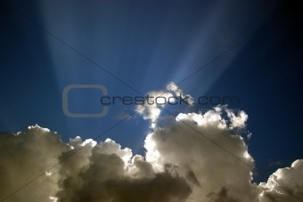Cloud with beams - 2