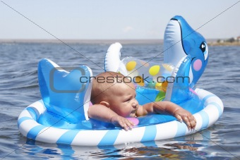 baby on water