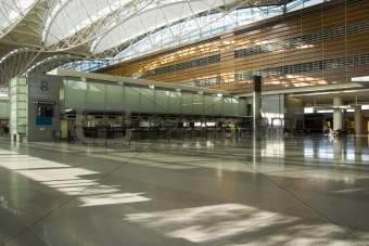 Counter and floor in Airport