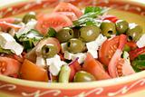 Delicious greek salad