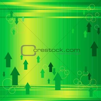 Arrows in Green Background