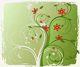 Abstract  floral background - vector illustration