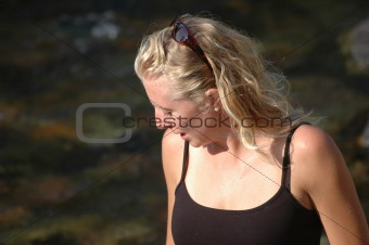 Blond Woman by a River