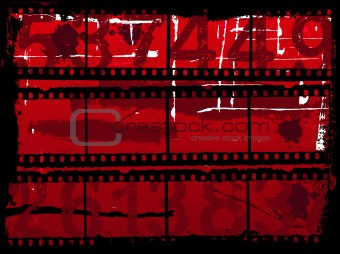 Grunge Background with old film strips