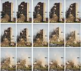 tower block being demolished